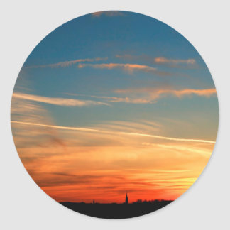 Nature Dusk Hot And Cold Round Sticker