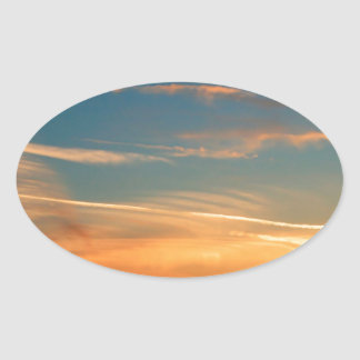 Nature Dusk Hot And Cold Oval Sticker