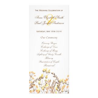 Nature fall Wedding Program Customized Rack Card