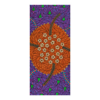 Nature Floats Floral And Leaves Rack Cards
