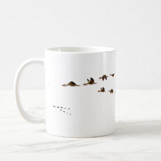 Nature | Flock of Geese Migrating Basic White Mug
