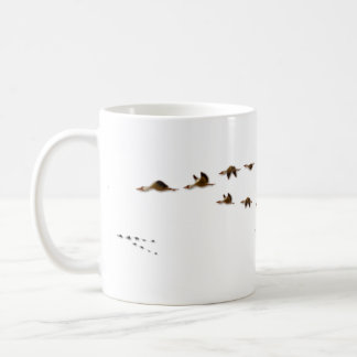 Nature   Flock of Geese Migrating Coffee Mug