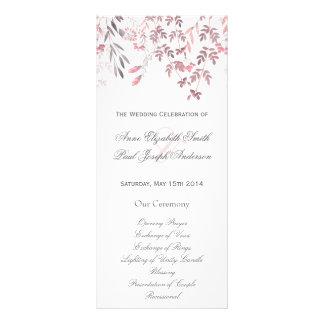 Nature floral Wedding Program Full Colour Rack Card