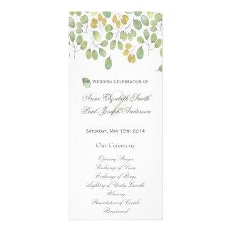 Nature floral Wedding Program II Rack Card Template