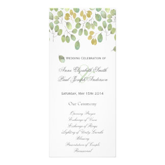 Nature floral Wedding Program II Rack Card Template