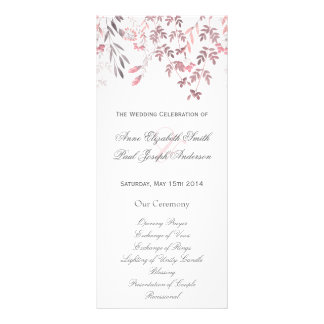 Nature floral Wedding Program Full Colour Rack Card