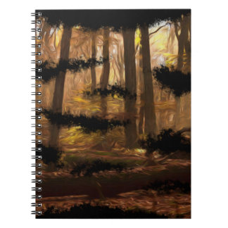 nature forest artistic cool painting notebook