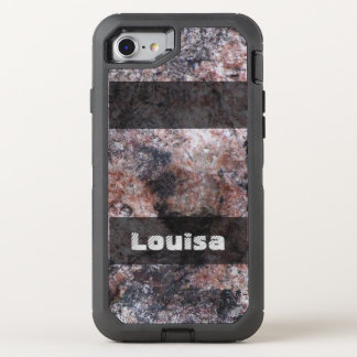 Nature Geology Pinkish Rock Texture any Text OtterBox Defender iPhone 8/7 Case