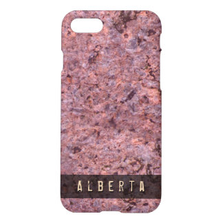 Nature Geology Rock Texture Custom Name iPhone 7 Case