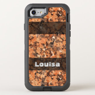 Nature Geology Spotted Rock Texture any Text OtterBox Defender iPhone 8/7 Case