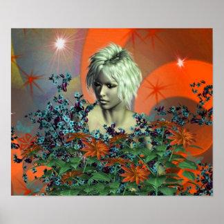 Nature Girl Art Poster