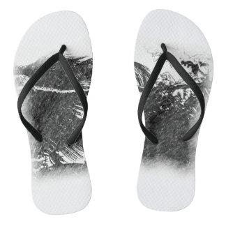 Nature, Grey Flip Flops