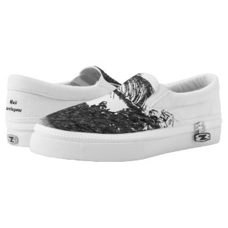 Nature Grey Printed Shoes