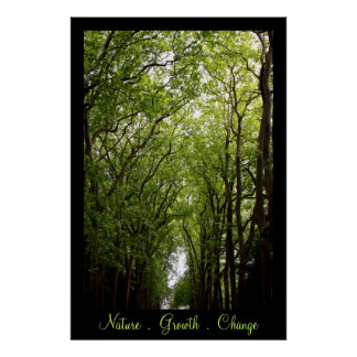 Nature . Growth . Change . Poster