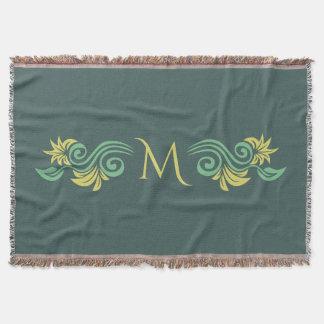 Nature-Inspired custom monogram throw blanket