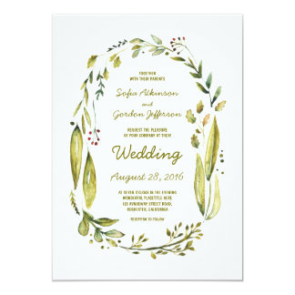 nature inspired cute wedding invitations