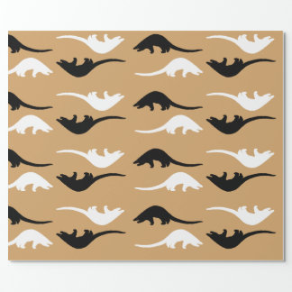 Nature inspired Pangolin Wrapping Paper