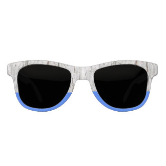 Nature-Inspired Wood and Blue Statement Sunglasses