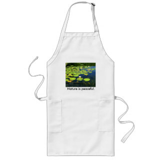 Nature is peaceful apron. long apron