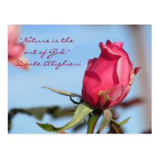 Nature is the art of God Dante Alighieri Postcards