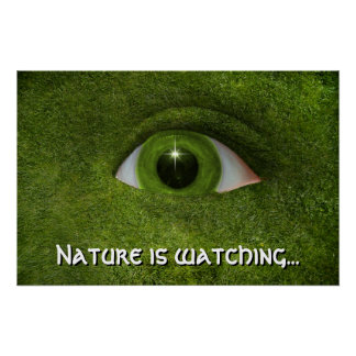 Nature is watching print