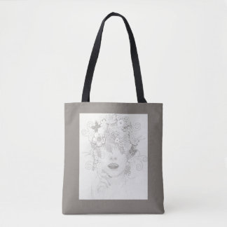 Nature Lady in Taupe, All Over Print Tote Tote Bag