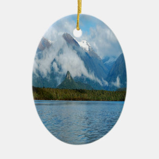 Nature Lakeside Rainbow Mountains Christmas Ornament