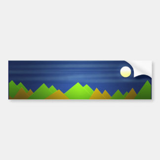 Nature Landscape Bumper Sticker