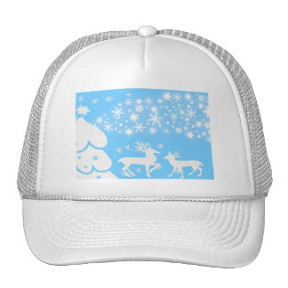 Nature  Landscapes  Seasons Winter Snowflake Deer Trucker Hat