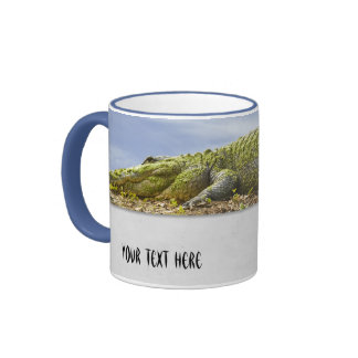 Nature Large Gator with Tail Out of Bounds Coffee Mugs