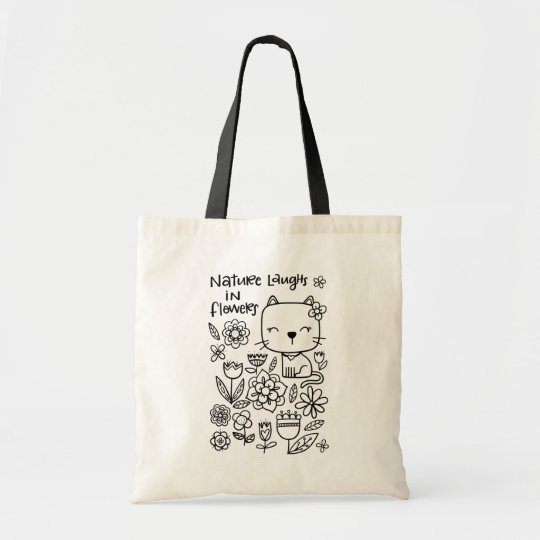 Nature Laughs in Flowers, Colour Me tote