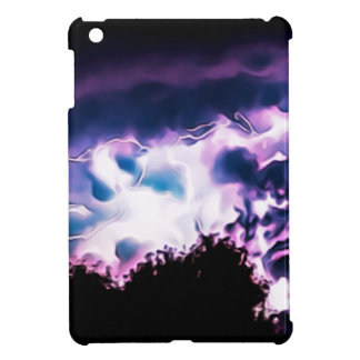 Nature Lightening Bolt Weather Rain Rainy Skyline iPad Mini Cases