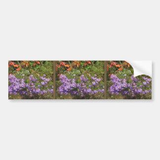 Nature Love GIFTS Green Flowers Sapling Purple FUN Car Bumper Sticker