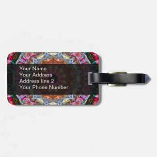 Nature Love kaleidoscope Luggage Tag