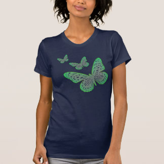 Nature Lover Blue Green Garden Butterfly T-Shirt