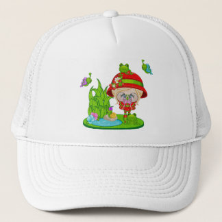 Nature Lover Frog Faery Trucker Hat