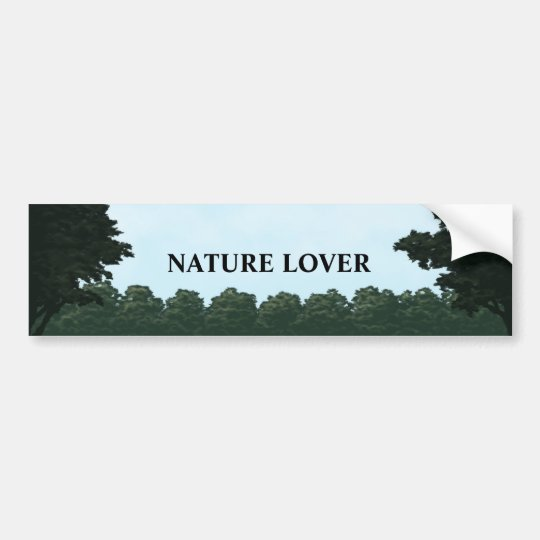 nature lover landscape panorama bumper sticker