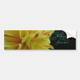 Nature Lover yellow flower Bumper Sticker