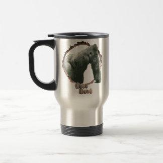 Nature lovers gorilla travel mug. travel mug