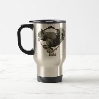 Nature lovers squirrel travel mug. travel mug