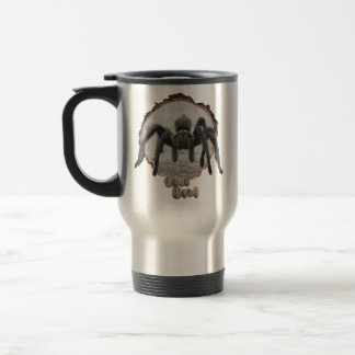 Nature lovers tarantula travel mug. travel mug