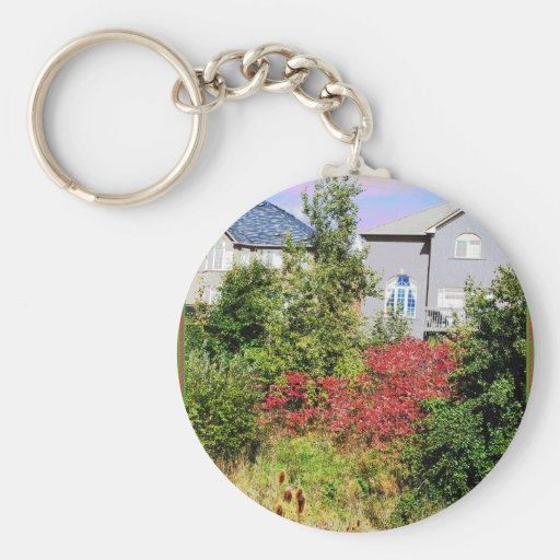 Nature Loves Flowers Trees Green fall Season color Key Chain