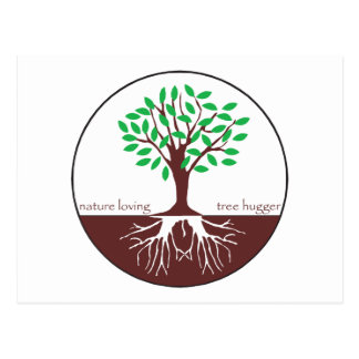 Nature Loving Tree Hugger Post Card