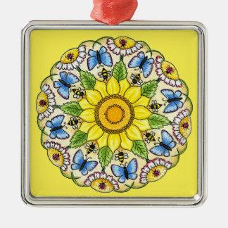 Nature Mandala Christmas Ornament