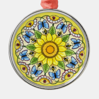 Nature Mandala Christmas Ornament