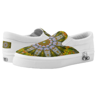 Nature Mandala Custom Zipz Slip On Shoes