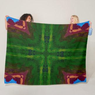 Nature Monster Mandala Fleece Blanket