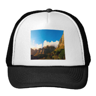Nature Mountain Sunlit Tops Hat