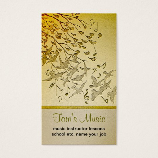 nature music business card