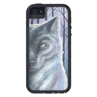 """""""Nature Nights #1: Wolf"""" Original Watercolor Case. iPhone 5/5S Covers"""